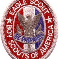 "Eagle Scout is the highest advancement rank in Boy Scouting. Eagle is earned after the rank of Life. ""Once an Eagle, always an Eagle""."