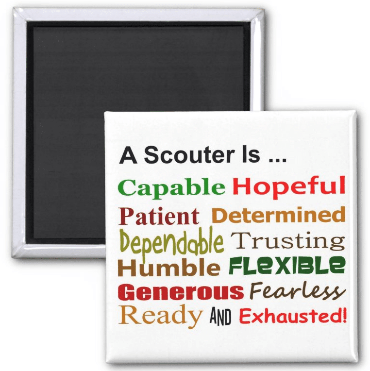 A Scouter Is Magnet Spoof on the Scout Law