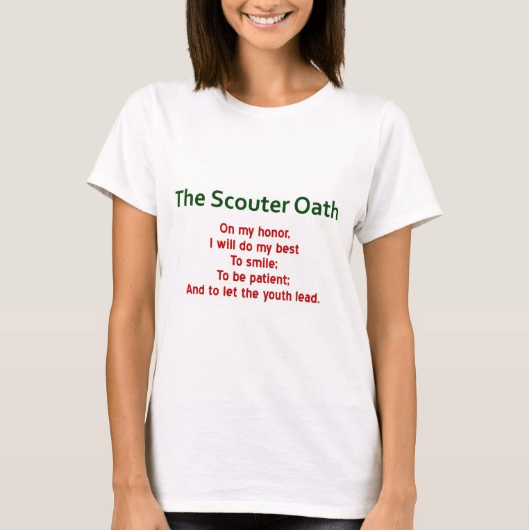 Scouter Oath Ladies T Shirt Spoof of the Scout Oath 1