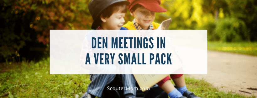 Den Meetings in a Very Small Pack