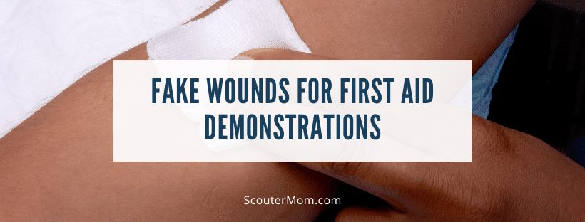 Fake Wounds for First Aid Demonstrations