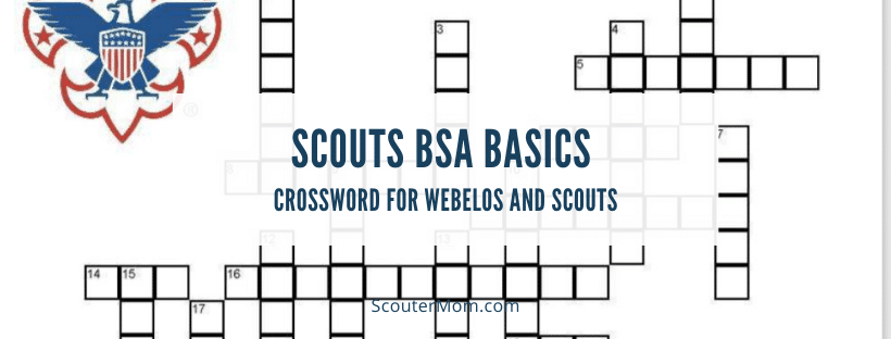 Scouts BSA Basics Crossword for Webelos and Scouts