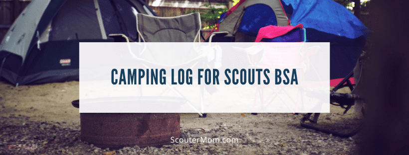 Camping Log for Scouts BSA