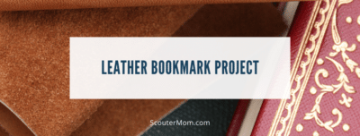 Leather Bookmark Project