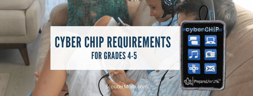 Cyber Chip Requirements for Grades 4 5
