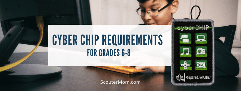 Cyber Chip Requirements for Grades 6 8