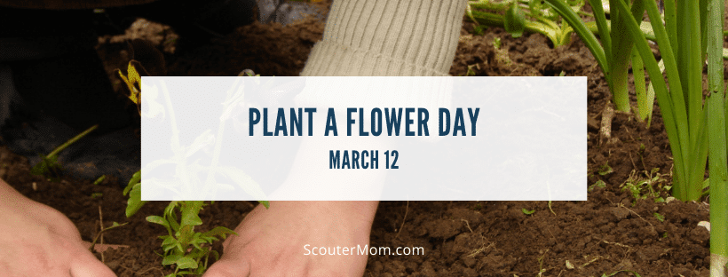 National plant a flower day March 12