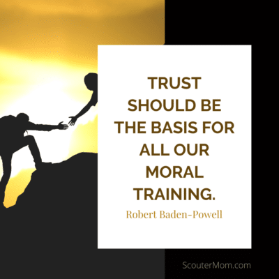 Trust should be the basis for all our moral training