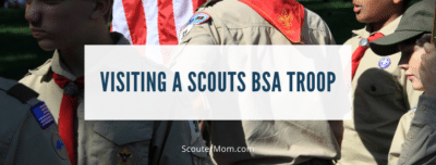 Visiting a Scouts BSA Troop