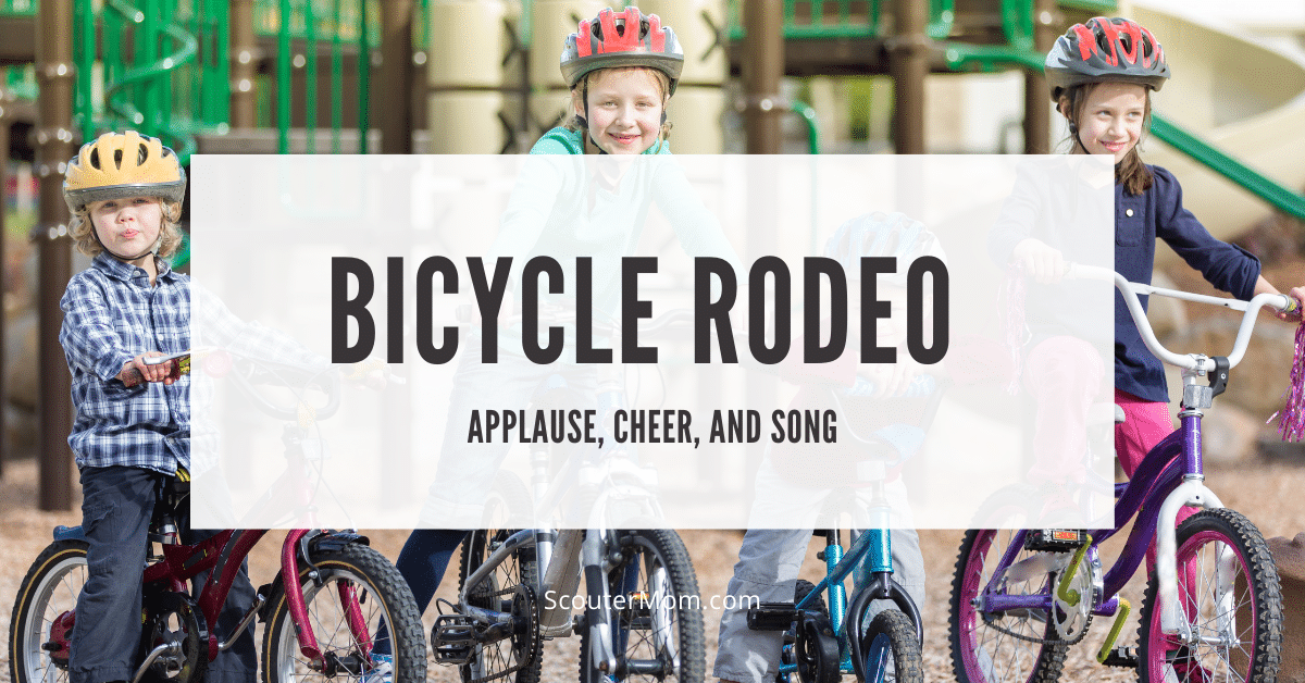 Bicycle Rodeo Applause Cheer and Song