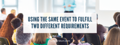 Using the Same Event to Fulfill Two Different Requirements
