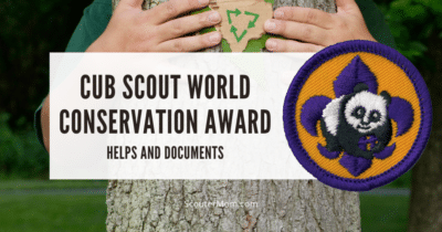 Cub Scout World Conservation Award Helps and Documents