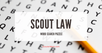 Scout Law Word Search Puzzle