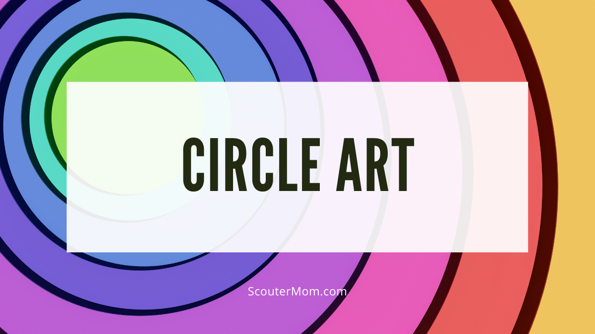 Circle art is an easy way to explore shapes and geometry.