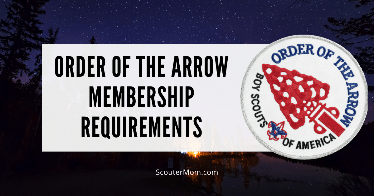 Order of the Arrow Membership Requirements