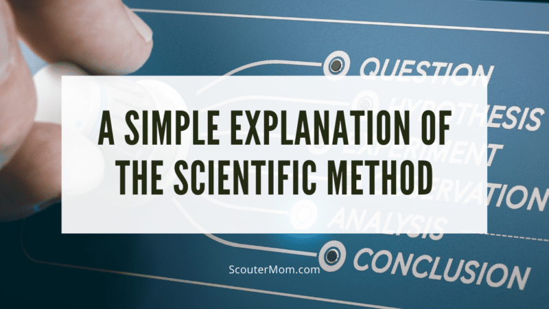 It is possible to teach the scientific method to youth using this simple explanation  of the scientific method.