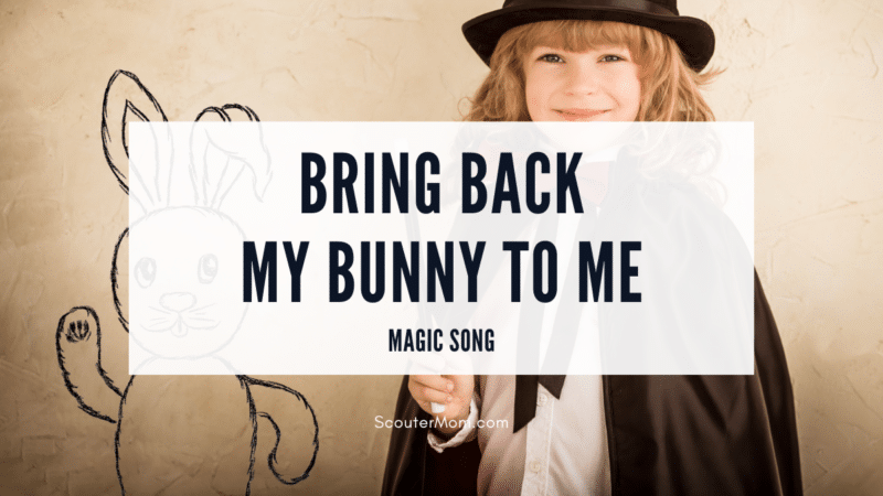 The Bring Back My Bunny to Me Magic Song is a song about a magician who has lost a rabbit.