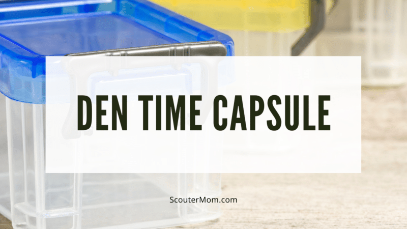 Plastic boxes can be used to create a time capsule