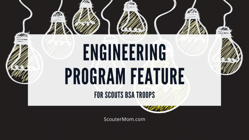 """The title """"Engineering Program Feature"""" over a background of lightbulbs to represent creativity and problem solving."""