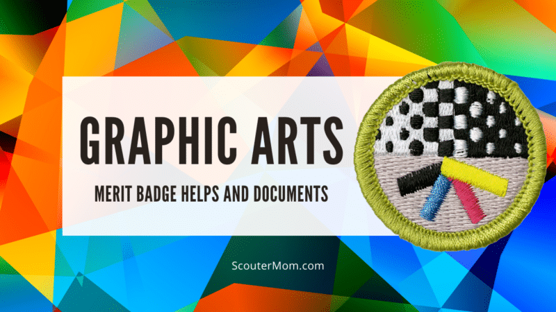 The graphic arts merit badge requirements teach youth to communicate using various media.