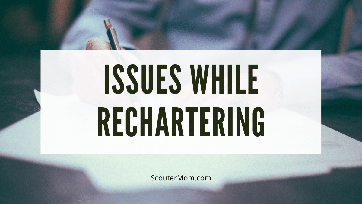 Issues While Rechartering