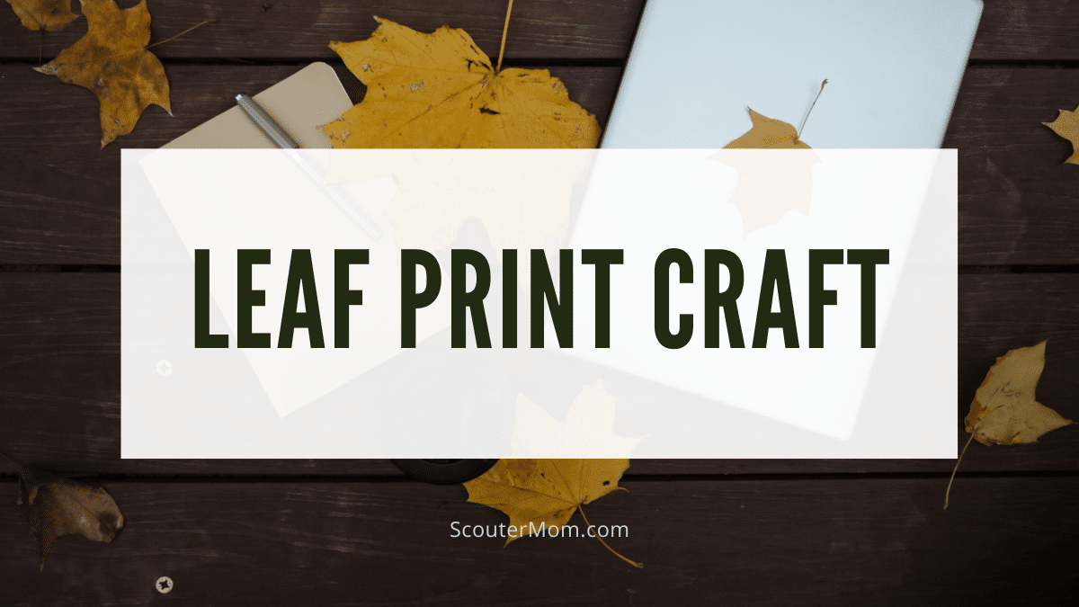 Creating a leaf print is an easy nature craft.