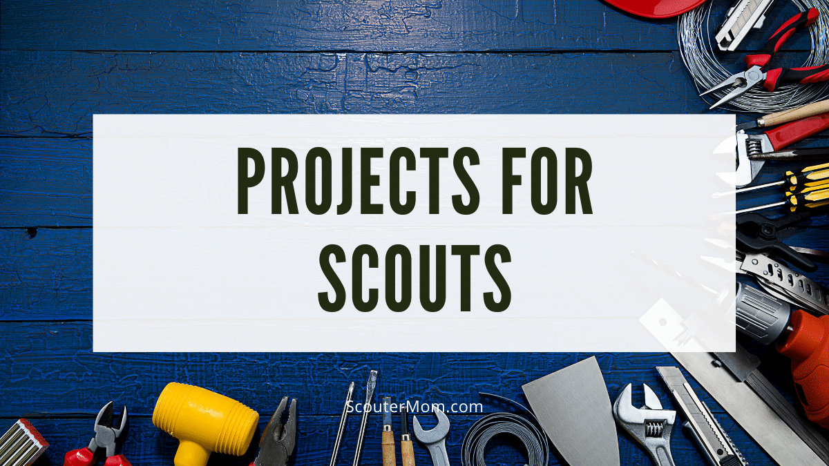 Projects for Scouts should use appropriate hand tools
