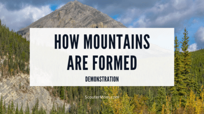 how mountains are formed demonstration