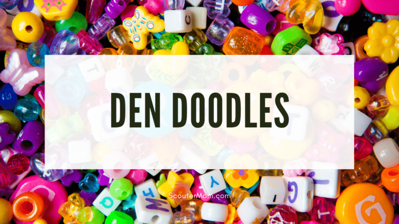 Craft beads of the type used in den doodles