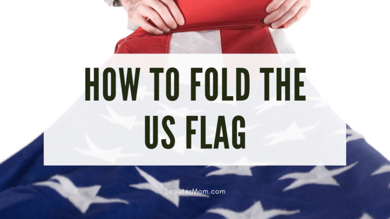 A photo showing how to fold the US flag