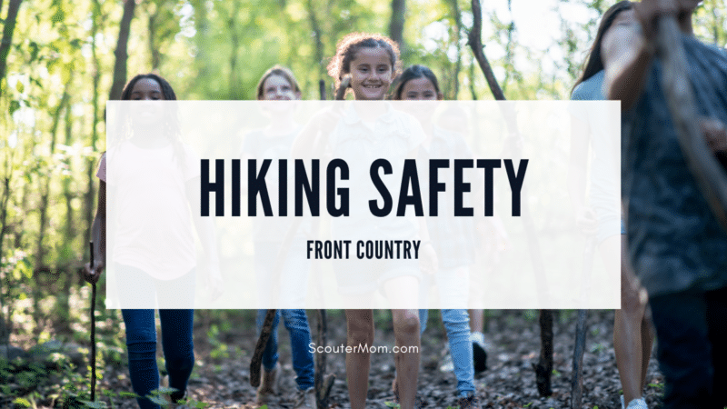 A group of children enjoying a hike, which is what you can do if you follow these hiking safety guidelines on your next front country adventure.