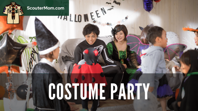 A group of young people with some good Halloween costume party ideas.