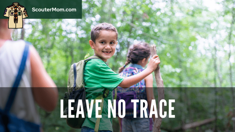 An image showing children hiking in a park, where these Leave No Trace frontcountry guidelines would apply.
