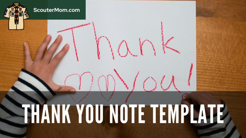 A child writing a thank you note like this will be helped by a thank you note template.