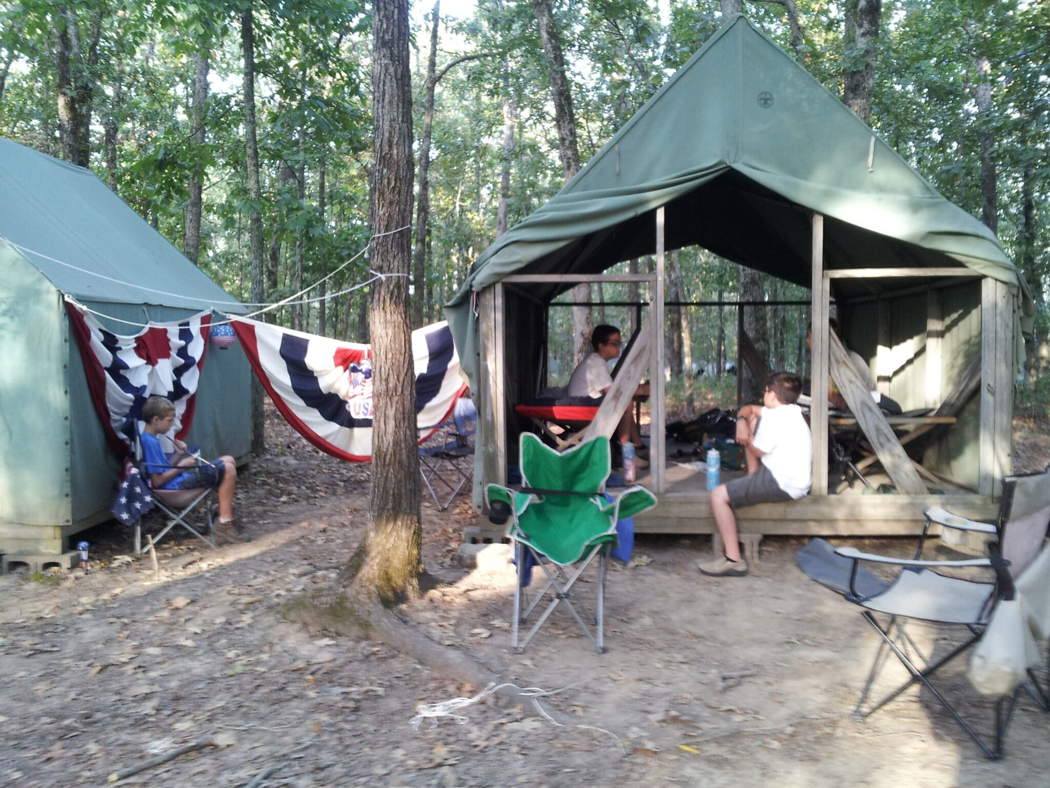 Campsites at Swift Base