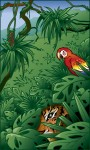 Tiger and Parrot in Jungle