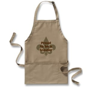 Show your Scout pride with this apron. Reads Proud to be a Scouter