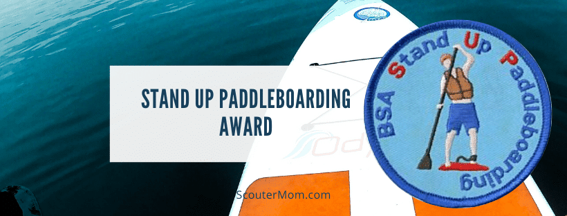 Stand Up Paddleboarding Award for Scouts