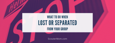 What to Do When Lost or Separated from Your Group STOP Acronym