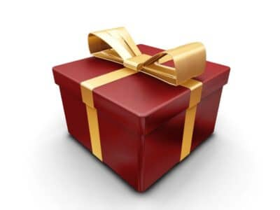 Wrapped gift present