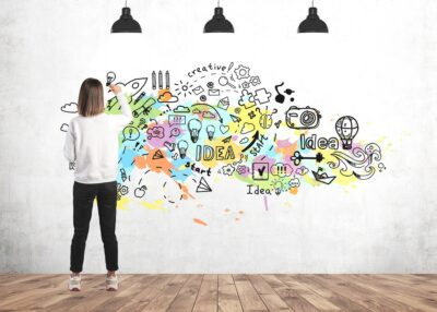 Young Woman Drawing Creative Ideas Planning