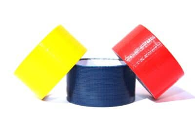 duct tape yellow blue red d