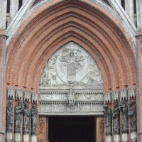 entrance to cathedral of La Plata, Argentina